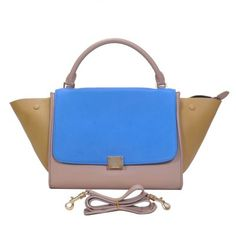 3d3607636b Celine Classic Blue Coffee Cowhide Leather Bags  345.00 Celine Trapeze Bag