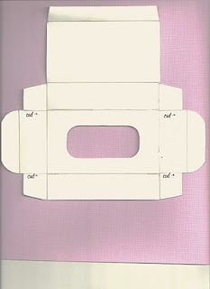 template for mini kleenex package
