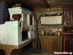 old russian interior, izba(house) in the village