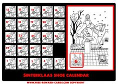 Shoe calendar Sint 6 dec