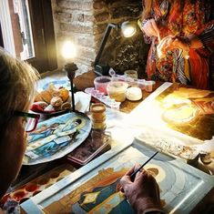 courses by Nikol Konstante ( Painting Courses, Byzantine Icons, Orthodox Icons, Athens Greece, Ikon, Lovers Art, Photo And Video, Artist, Artwork