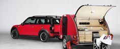 I am an absolute fan of the MINI. Cowley Caravan and Swindon Tent For MINI Camping Mini Clubman, Mini Countryman, Mini Paceman, Tiny Camper, Camper Caravan, Car Camper, Accesorios Mini Cooper, Motorhome, Airstream