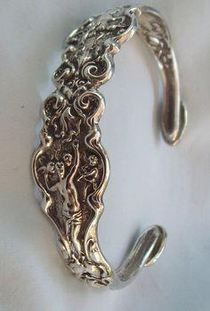 Antique Sterling Silver Fork Spoon Bracelet Irian by TanamiTim, $250.00