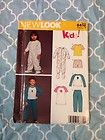 6452 Simplicity Sewing Pattern Kids Pajama 2 Piece Sleeper Footie Uncut A 2-6