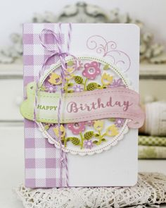 Happy Birthday Card by Melissa Phillips for Papertrey Ink (March 2017)