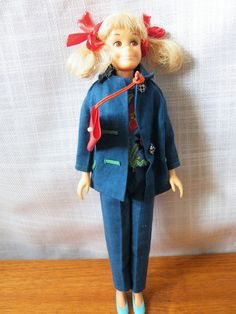 Vtg Mattel Skooter, doll + funtime outfit, Japan, 1963