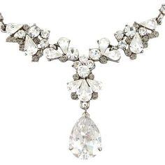 Sparkling! Silver and Grey necklace   Glitzy Secrets