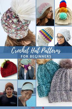 Our most popular hat collection EVER! Check out 60+ Free Crochet Hat Patterns for Beginners! Crochet Hat For Beginners, All Free Crochet, Learn To Crochet, Crochet Baby Hat Patterns, Crochet Baby Hats, Popular Hats, Slouchy Hat, Diy Makeup, Diy Beauty