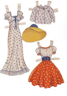 Clothes* 1500 free paper dolls at Arielle Gabriel's The Internatioal Paper Doll Society and Arielle Gabriel's art, prints, paintings as well...