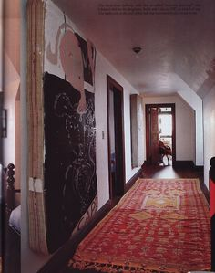 Olatz Schnabel's old mattress as painting, what a great idea! Inspiration Design, Interior Inspiration, Interior Architecture, Interior And Exterior, Beautiful Space, Decoration, Interior Decorating, Hallway Decorating, Living Spaces