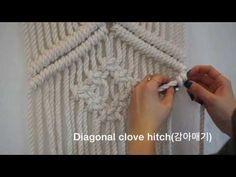 Diamond Mesh(clove hitch□ knots) - 마크라메 스튜디오/라이프 어라이브/@Life_a_live - YouTube