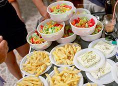 Greek salad, feta and fries: the volunteers cook at an Ikarian feast Ikaria Greece, Greek Salad, Volunteers, Chefs, Cobb Salad, Feta, Fries, Island, Cooking