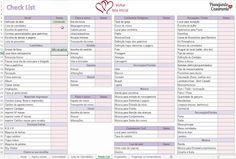 Planilha de organização geral do casamento para download! Clique para baixar de graça e organizar desde a lista de convidados até o orçamento e os gastos do casamento.
