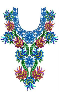 Now you can enjoy our Premium Range Embroidery Designs of Neck Mexican Embroidery, Shirt Embroidery, Embroidery Fashion, Vintage Embroidery, Beaded Embroidery, Embroidery Stitches, Embroidery Patterns, Design Of Neck, Mexican Pattern