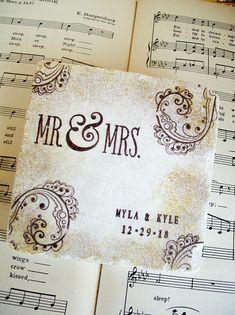Mr. & Mrs. Wedding Coasters Personalized Wedding Coasters