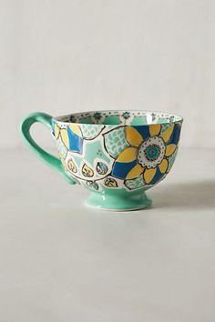 Elka Mug - anthropologie.com. Oh, how I want this mug! In my world of white mugs, I somehow long for this one to steal the show, lol.