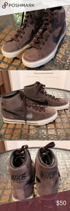 Nike High-top Sneakers Hardly used, the insoles have some wear and one of the laces, but other than that these sneakers are in great condition.👌😊 Nike Shoes Sneakers