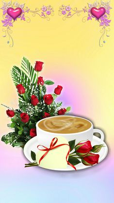 Coffee Gif, Coffee Images, Coffee Love, Flowers Gif, Love Flowers, Flower Images, Flower Pictures, Good Morning Wallpaper, Good Morning Coffee