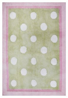 Pixie Baby Rug in Pink and Green