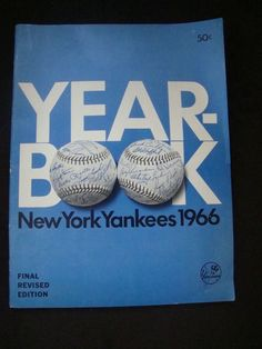 """Rare New York Yankees 1966 """"Final Revised Edition"""" Yearbook"""