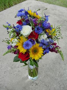 Wildflower bouquet...I really like this Mom