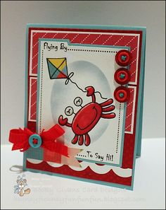 All Occasion card featuring Bugaboo Stamps Crab Kite.