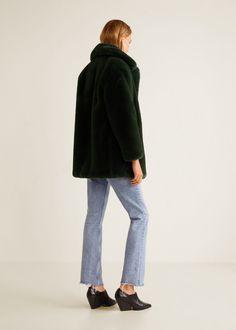 c2eef3572f Mango Faux Fur Coat - Cognac Xxs Fur Coat