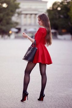 """""""I ❤️ her lovely dress and high heels, she has beautiful legs """" Sexy Outfits, Sexy Dresses, Cute Dresses, Short Dresses, Fashion Outfits, Summer Outfits, Fashion Trends, Great Legs, Beautiful Legs"""