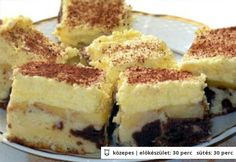 Almás krémes 2. Hungarian Desserts, Hungarian Recipes, Sweet And Salty, Winter Food, Fudge, Cheesecake, Dessert Recipes, Food And Drink, Cooking Recipes