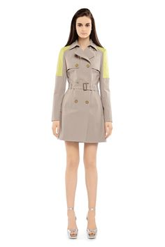 Mackage - LILITH-Y TRENCH COAT with yellow shoulders