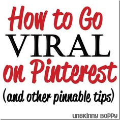Blog promotion | How to go viral on pinterest- tips for making your blog traffic skyrocket from Pinterest referrals by Unskinny Boppy