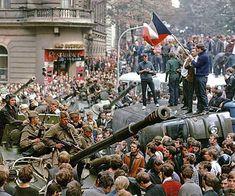 in Czech Revolt,Czechoslovakia Uprising World War Doctrine of On Charles Bridge Prague,Paintings Charles Bridge Prague Prague Spring, Warsaw Pact, Rare Historical Photos, Soviet Army, Alexander The Great, Freedom Of Movement, Central Europe, World War I, Cali