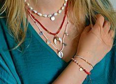Dámský náhrdelník BRYXI - korál NB0902 | BRYXI shop.cz Gold Necklace, Shopping, Jewelry, Fashion, Jewellery Making, Moda, Jewerly, Jewelery, Fashion Styles