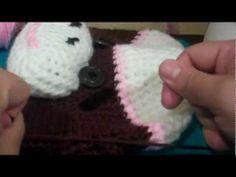 31c31e72388 Tutorial-Crochet Girl Sock Monkey Beanie (Part-4 and final) - YouTube