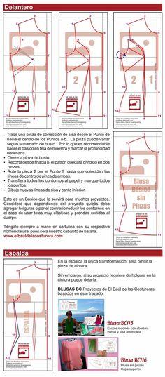 EXCELENTE web: elbauldelacosturera.com   trazado de patrones ¡muchos están para descargar gratis! y tutoriales de montaje de las prendas. Además tiene canal en YOUTUBE.