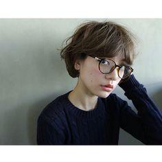 short hair with glasses - Shinobu Takahashi