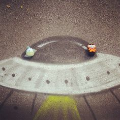 Jugando a los #aliens :) #CaminodeSantiago #peluches #pelucheando