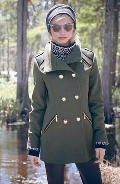 I wish I could buy all the cute coats I find, but who has the closet space?!