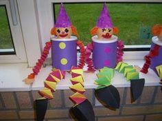 www.jufjanneke.nl | Clowntjes met muizentrappetjes