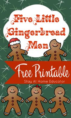 Five Little Gingerbread Men Free Printable - This one printable offers numerous gingerbread man activities! You'll love the gingerbread man poem for teaching counting skills to preschoolers. Gingerbread Man Activities, Gingerbread Crafts, Christmas Activities, Gingerbread Men, Gingerbread Man Kindergarten, Gingerbread Stories, Preschool Songs, Preschool Lessons, Preschool Boards