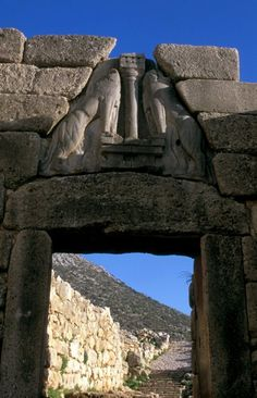 The #Lion #Gate at #Mycenae, #Peloponnese - #Greece