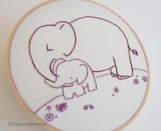 Elephant Embroidery Pattern