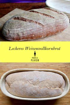 Weizenvollkornbrot Rezept, einfach lecker. Mehr Brotrezepte auf meinem Foodblog. Brot zu Hause backen, Vollkornbrot.