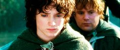 Frodo continues to be an inspiration to continue on darkening roads. I love the music in this scene.