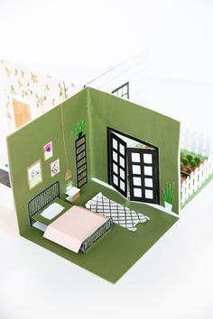 Paper Pop, Diy Paper, Paper Crafts, Foam Crafts, Paper Doll House, Paper Houses, Doll House Crafts, Pop Up Haus, Diy For Kids