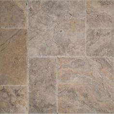 MS International Silver Pattern Honed-Unfilled-Chipped-Brushed Travertine Floor and Wall Tile (5 kits / 80 sq. ft. / pallet) TTSIL-PAT-HUCB at The Home Depot - Mobile