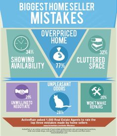 Biggest Home Seller Mistakes. Thinking of Selling or Buying in 2014? Call Dorene Pierceall with Premiere Plus Realty 239.331.1124 #NaplesHomes #NaplesRealEstate