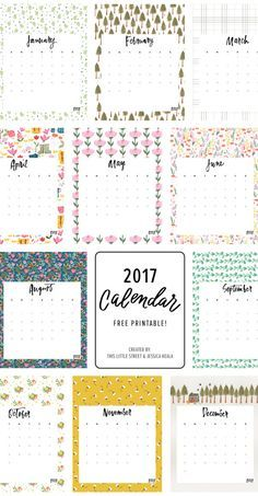 Printable free 2017 Calendar : This Little street                                                                                                                                                                                 More