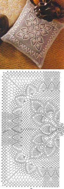 Crochet Doilies Unique Decor Ideas For 2019 Crochet Doily Diagram, Crochet Chart, Crochet Squares, Filet Crochet, Crochet Motif, Crochet Doilies, Crochet Stitches, Crochet Pillow Cases, Crochet Cushion Cover