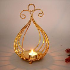 Golden Iron Candlestick Holders Romantic Tabletop Ornaments Home Bar Decorations Modern Candle Holders, Lantern Candle Holders, Candlestick Holders, Candlesticks, Metal Lanterns, Candle Lanterns, Candle Sconces, Decorating With Pictures, Decoration Pictures